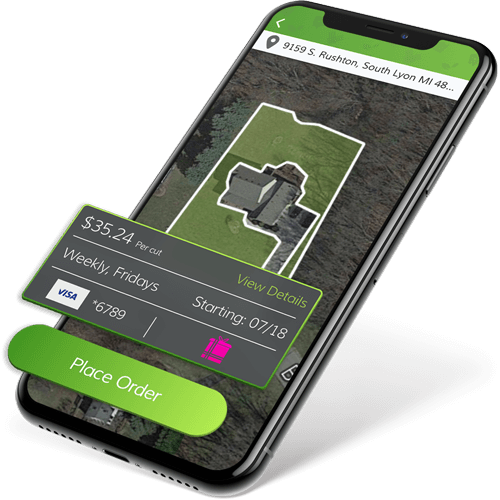 LawnGuru app home screen