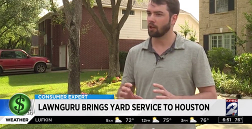Click on Houston LawnGuru Segment
